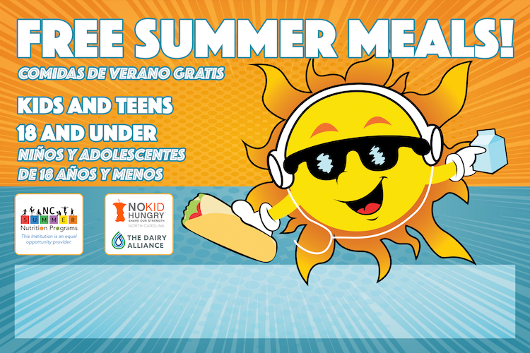 Summer meals promotional yard sign thumbnail